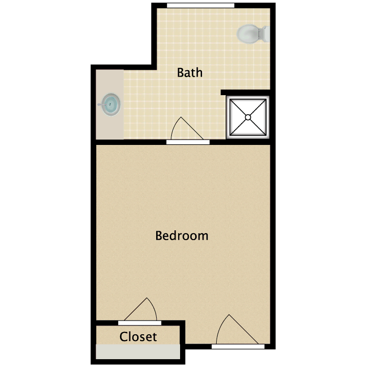 Floor plan image of Private A