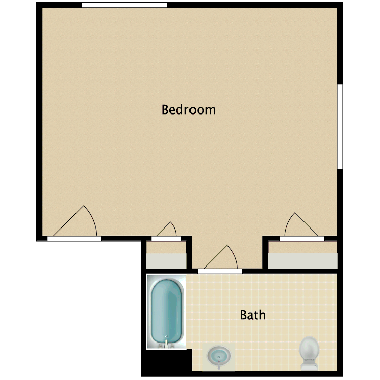 Floor plan image of Private B