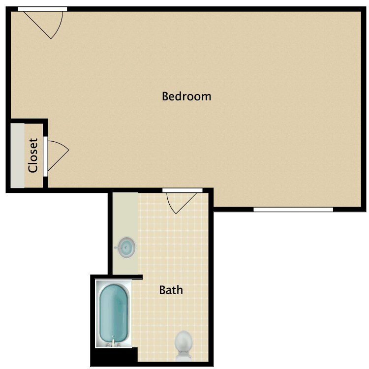 Floor plan image of Private E