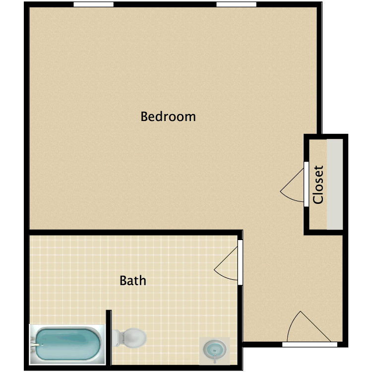 Floor plan image of Private F
