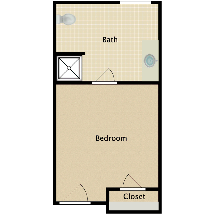 Floor plan image of Private G
