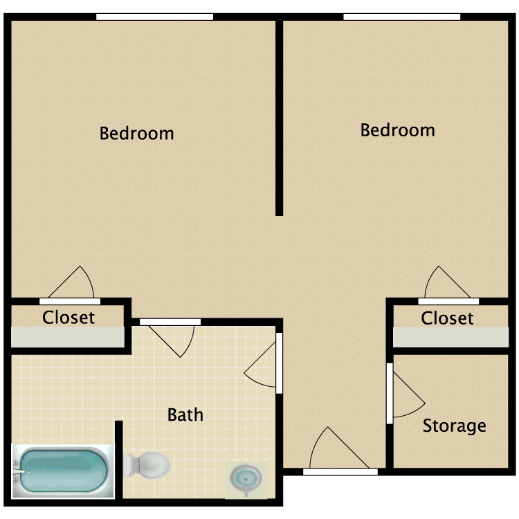 Floor plan image of Shared B