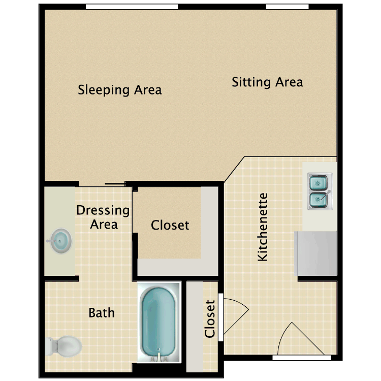 Floor plan image of Studio D