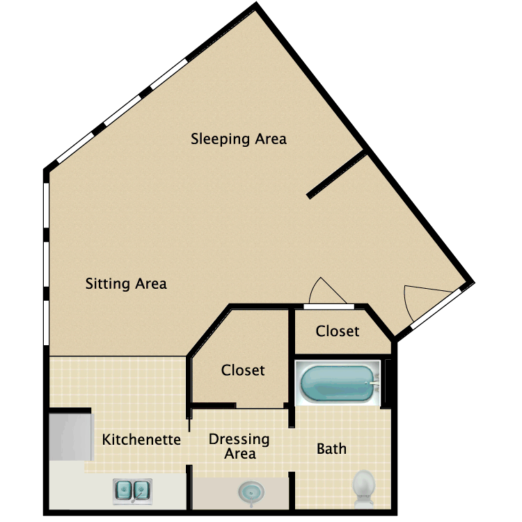 Floor plan image of Studio E