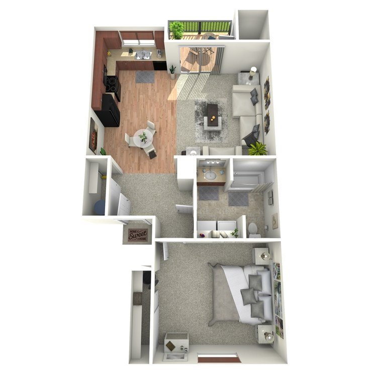 Floor plan image of One Bedroom Home
