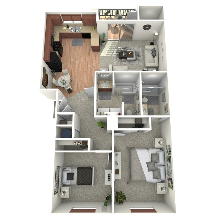 Floor plan image of Two Bedroom Home