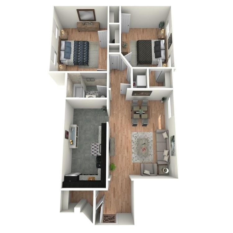 Floor plan image of Tudors B1AT