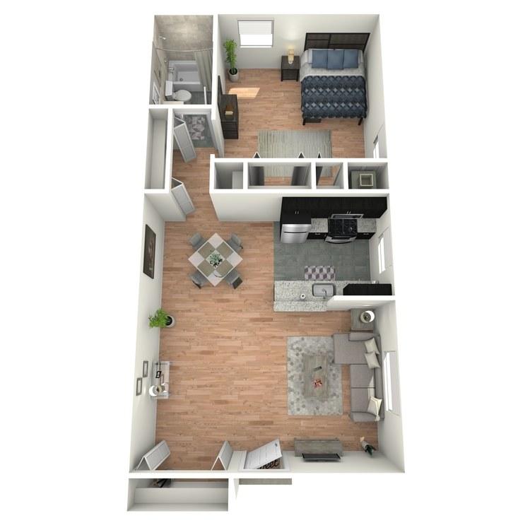 Floor plan image of Gardens A1AG