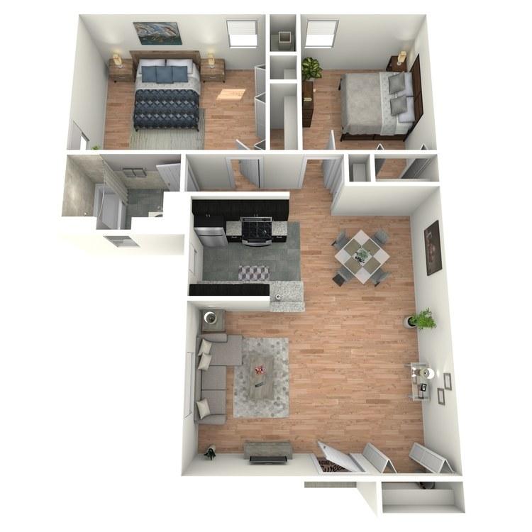 Floor plan image of Gardens B1AG