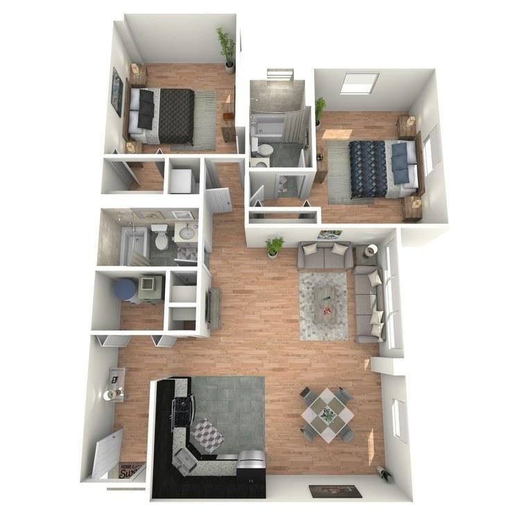 Floor plan image of Tudors B2BT