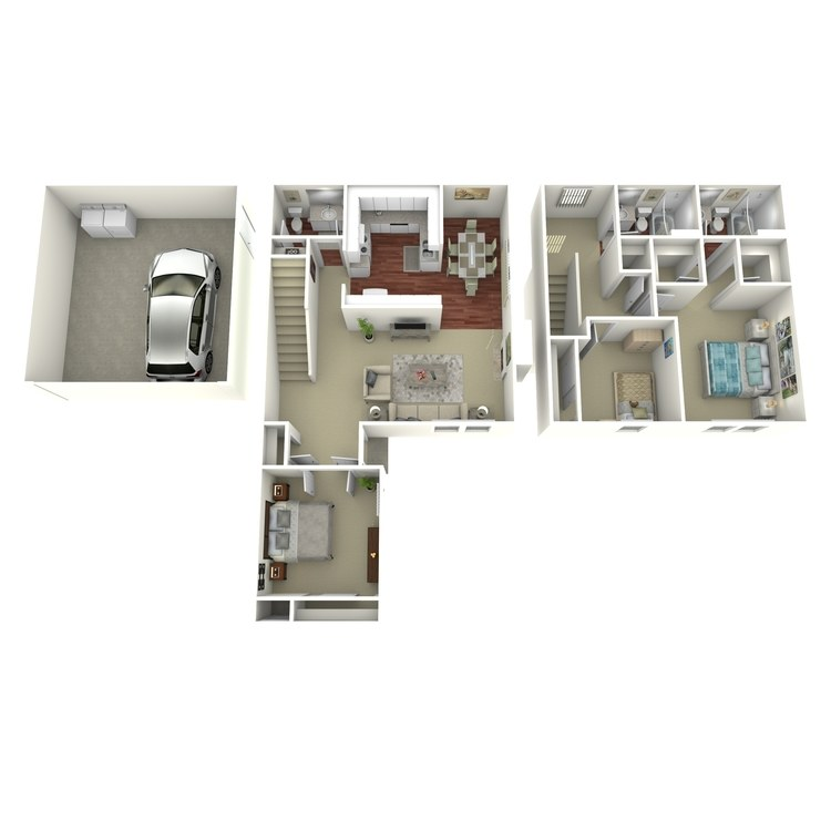 Floor plan image of 3 Bed 2.5 Bath