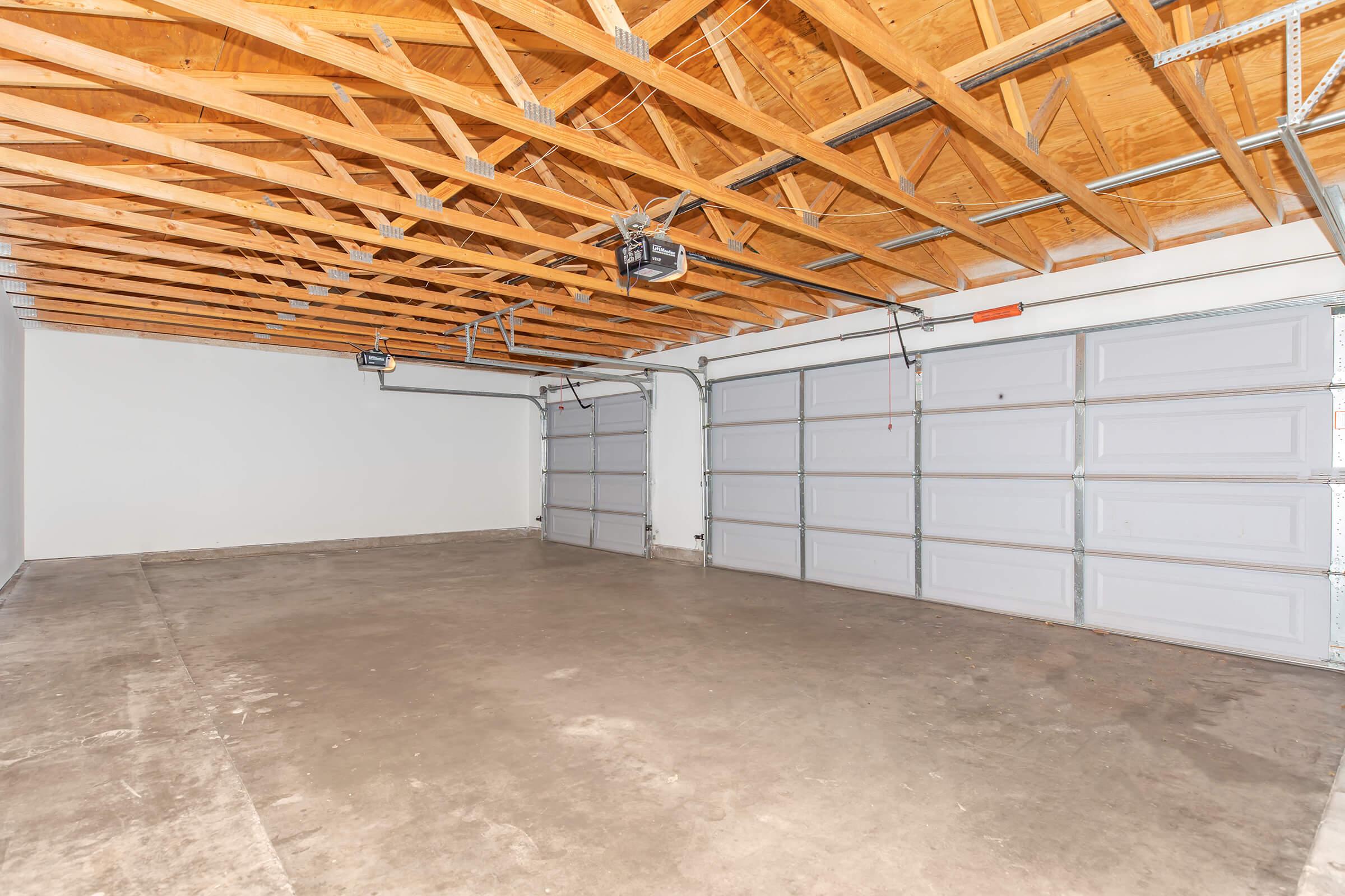 Vacant garages