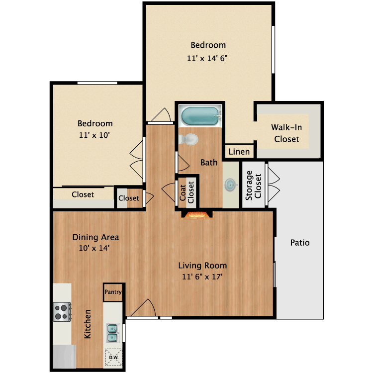 Floor plan image of Pollock