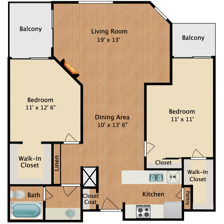 Floor plan image of Rembrandt