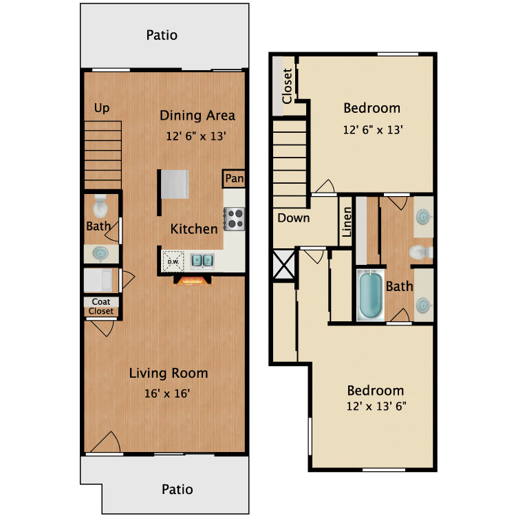 Floor plan image of Van Gogh