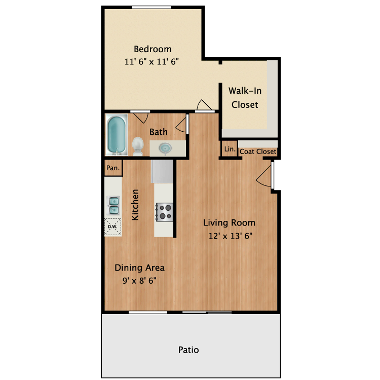 Floor plan image of Renoir