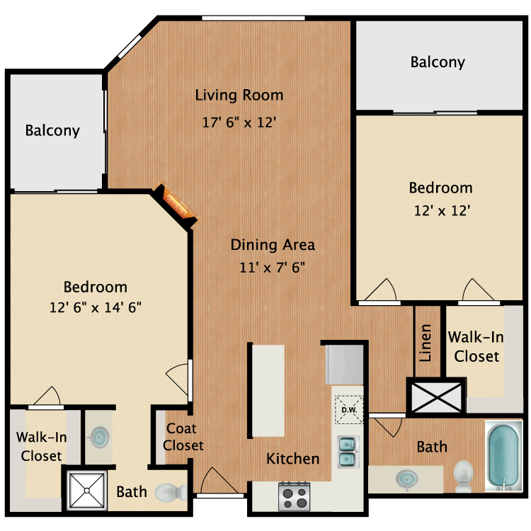 Floor plan image of Da Vinci
