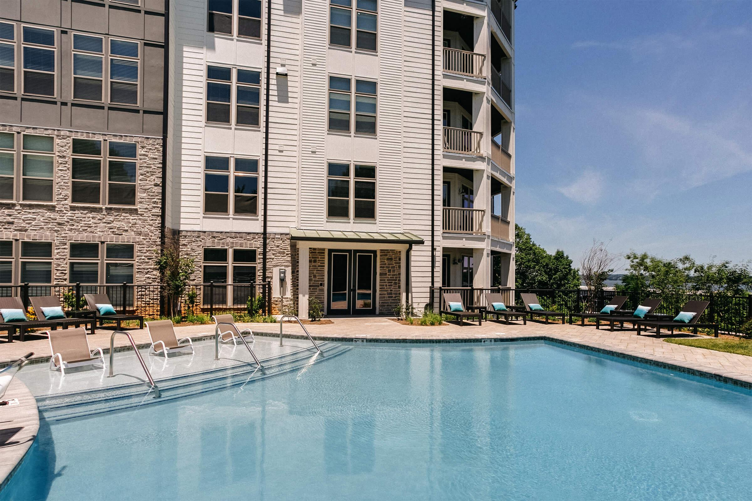 Relax pool side in Old Hickory, Tennessee