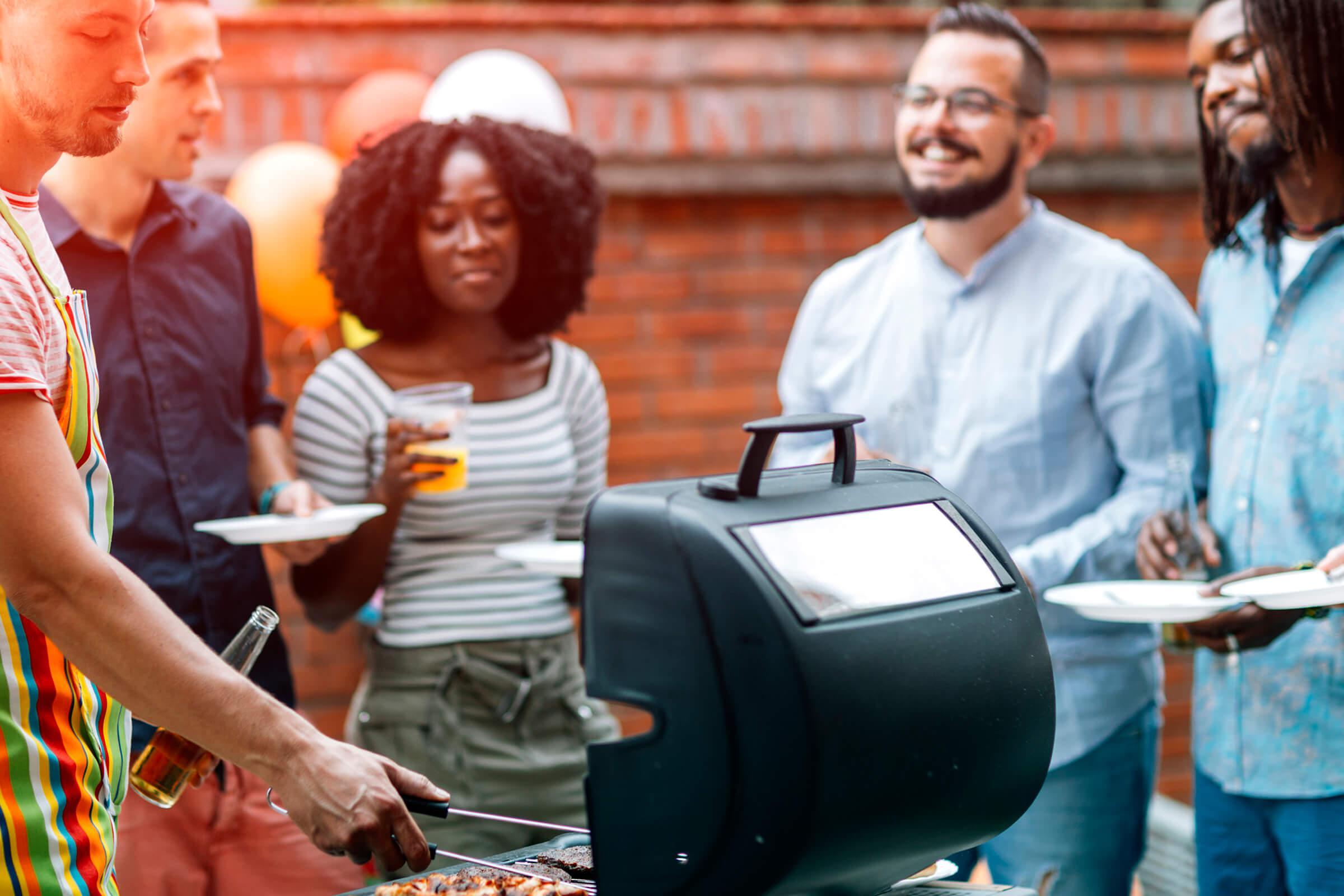 Barbecue at Latitude Pointe Apartments in Boynton Beach, Florida