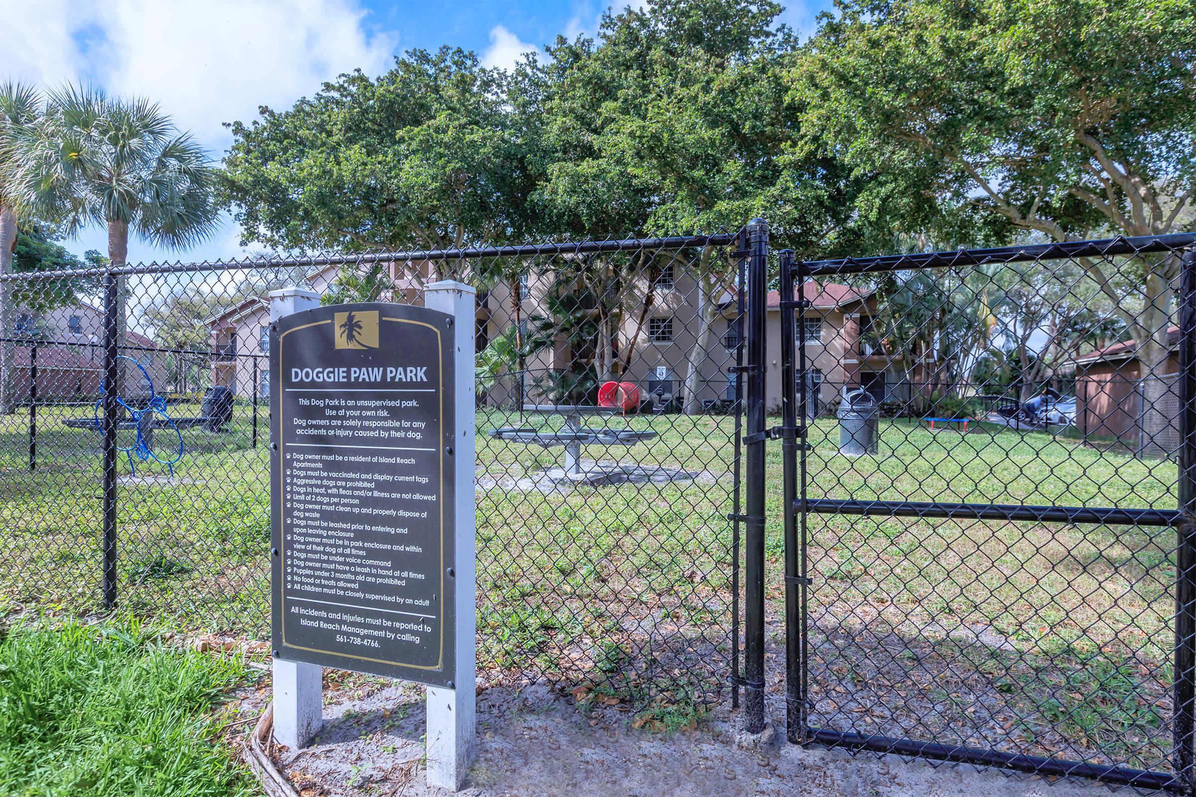 Dog Park at Latitude Pointe Apartments in Boynton Beach, Florida