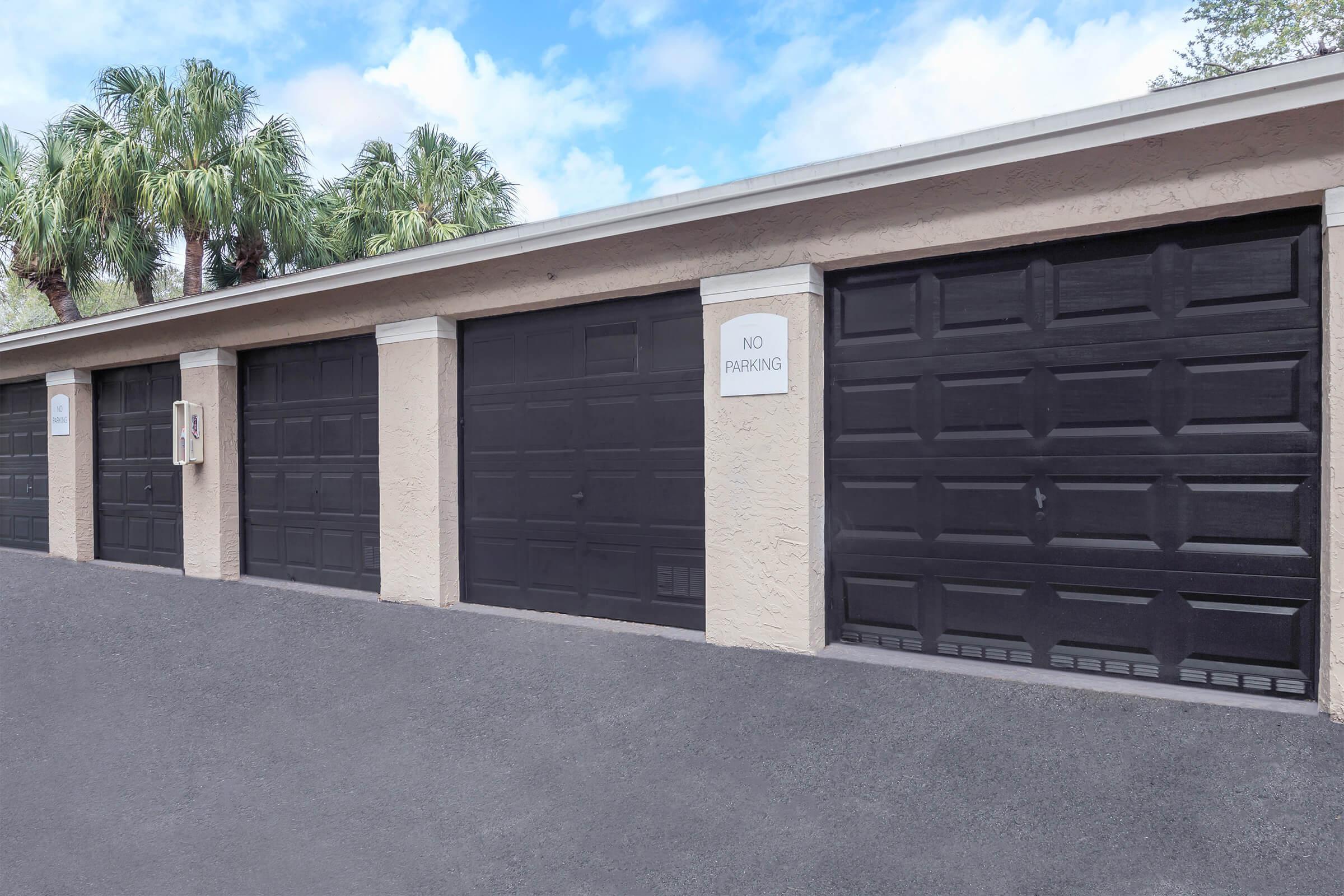 Garages at Latitude Pointe Apartments in Boynton Beach, Florida