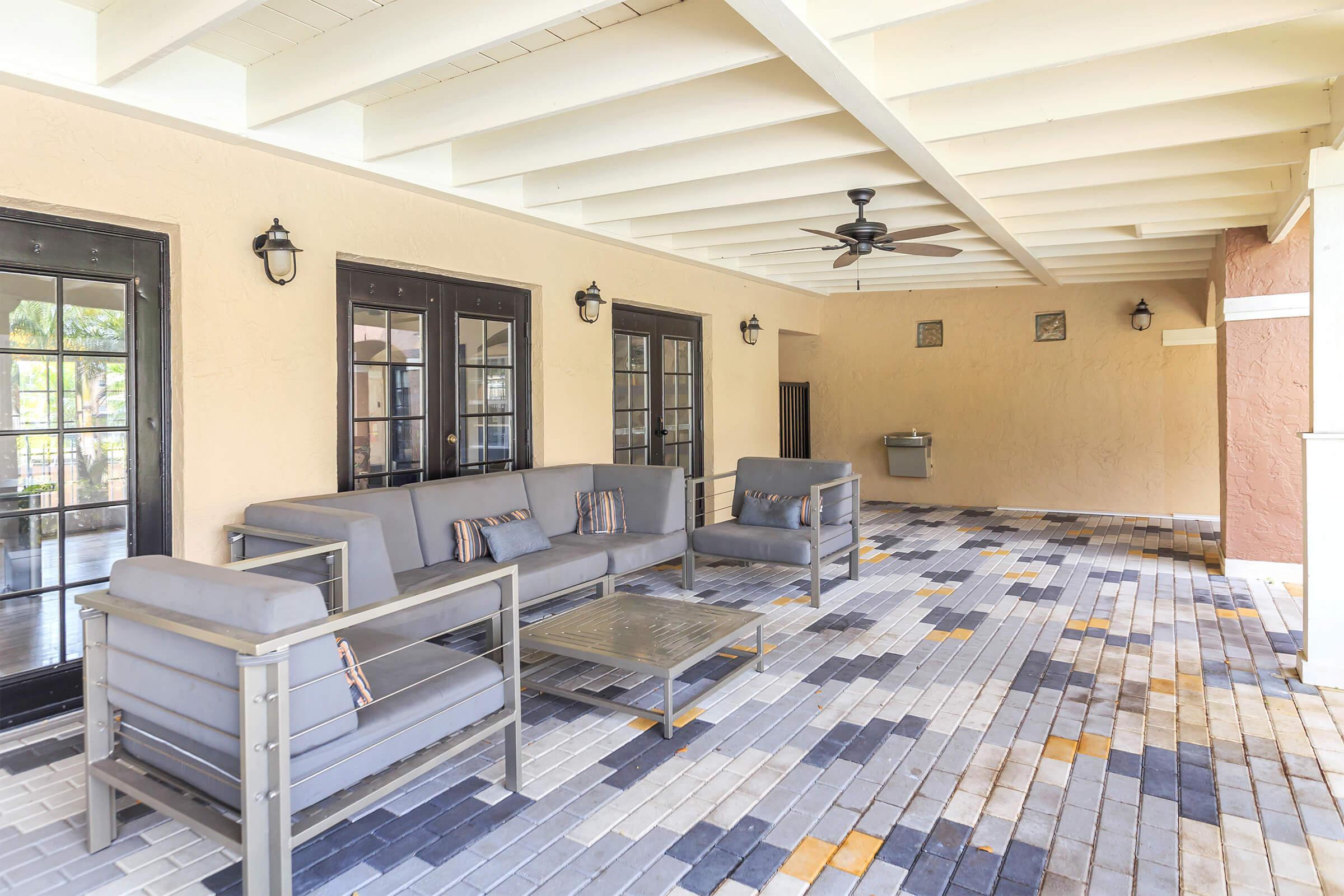 Outdoor Lounge at Latitude Pointe Apartments in Boynton Beach, Florida