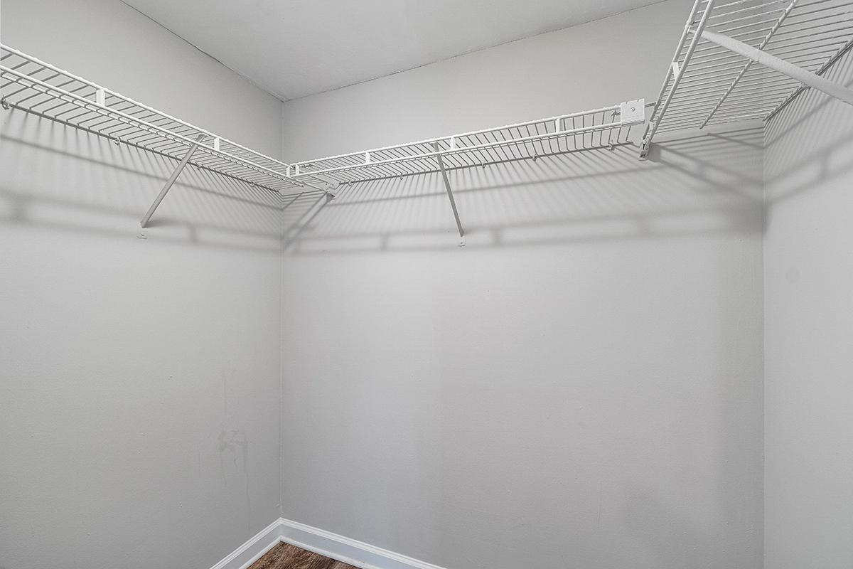 a room with white walls