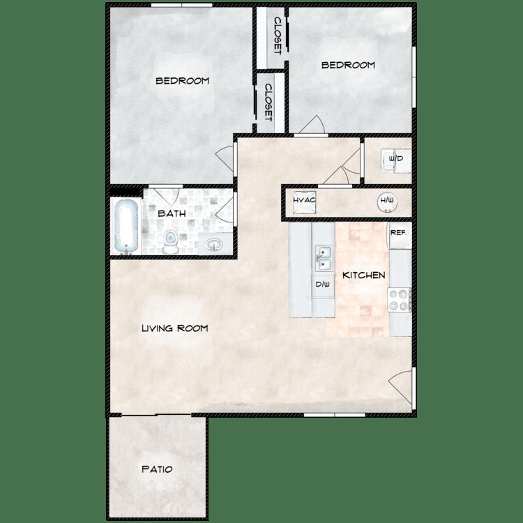 Floor plan image of Type 2 772