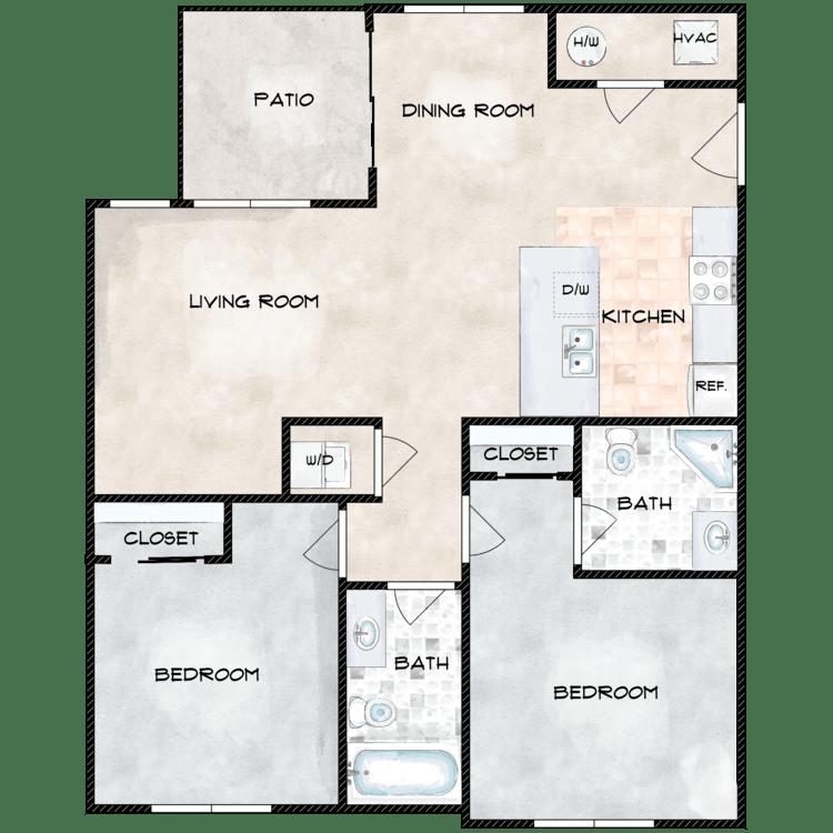 Floor plan image of Type 4 862B