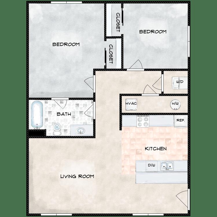 Floor plan image of Type 6 768