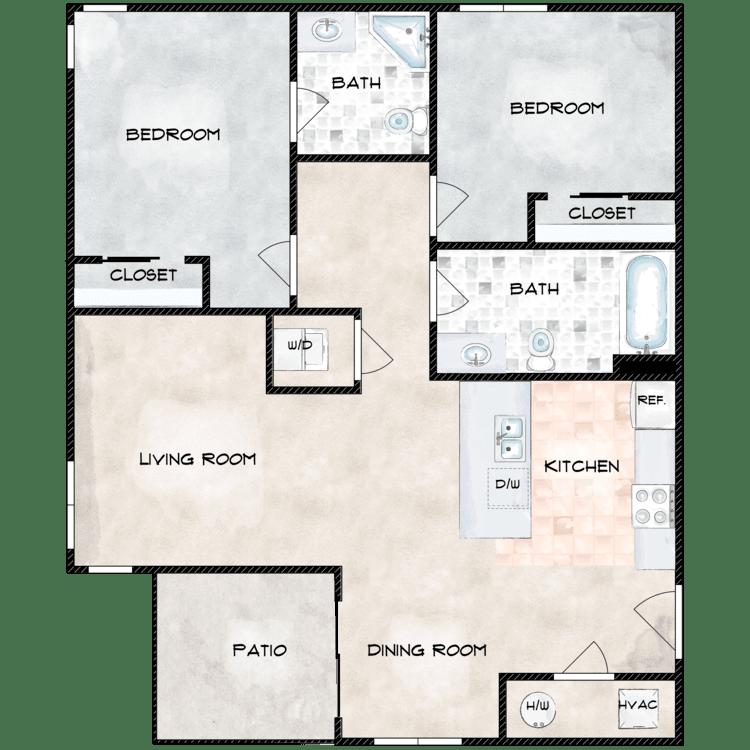 Floor plan image of Type 8 862A