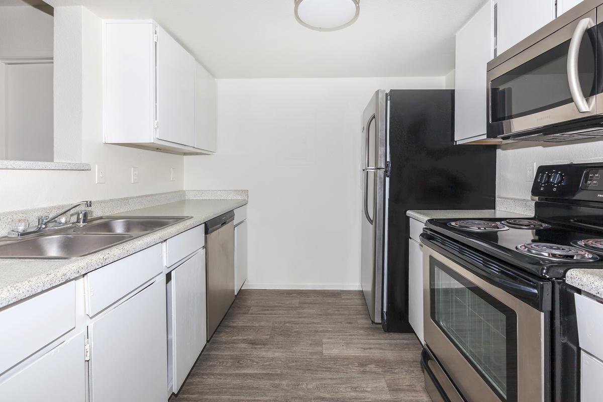 Las Brisas De Cheyenne Apartments provides an all-electric kitchen