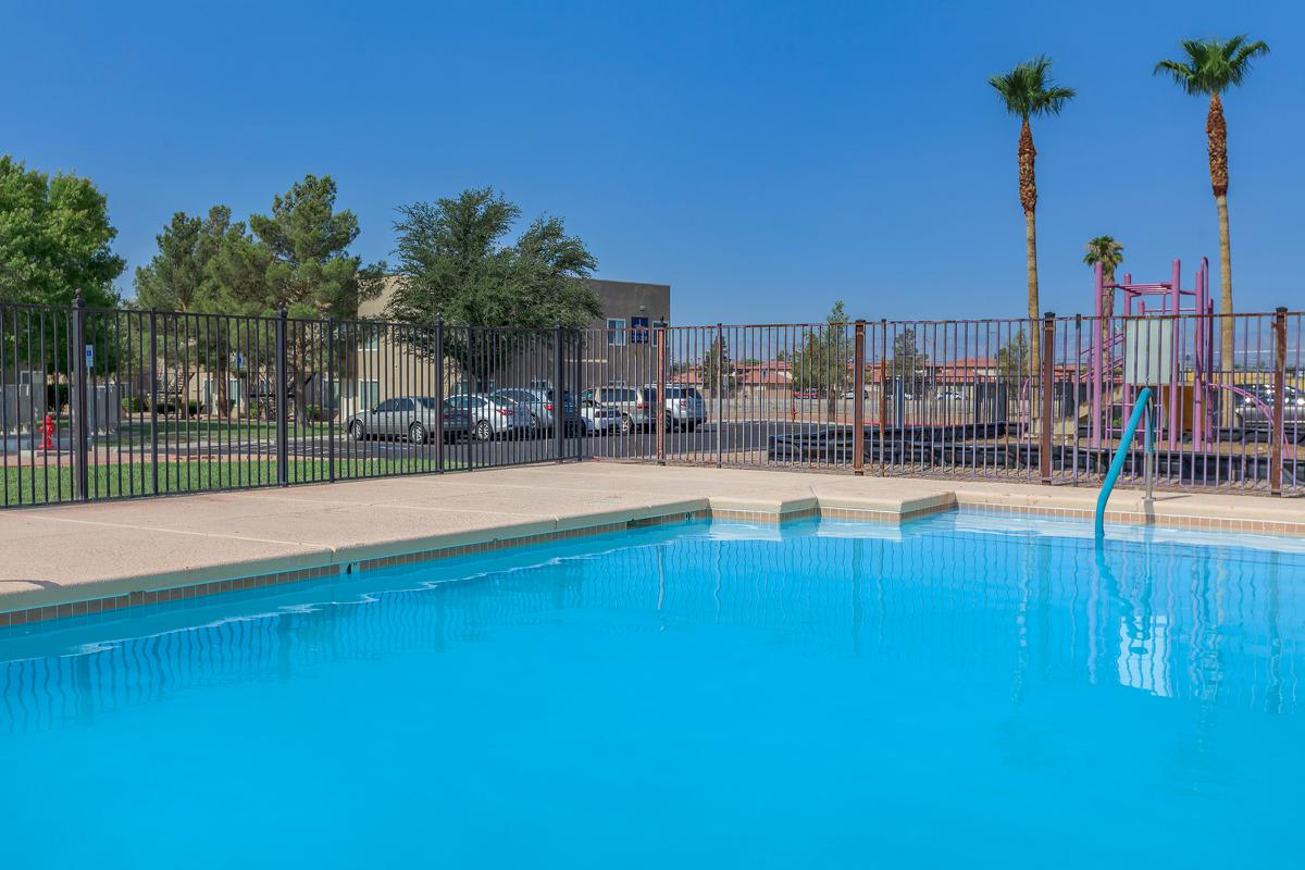 Your swimming pool at Las Brisas De Cheyenne Apartments