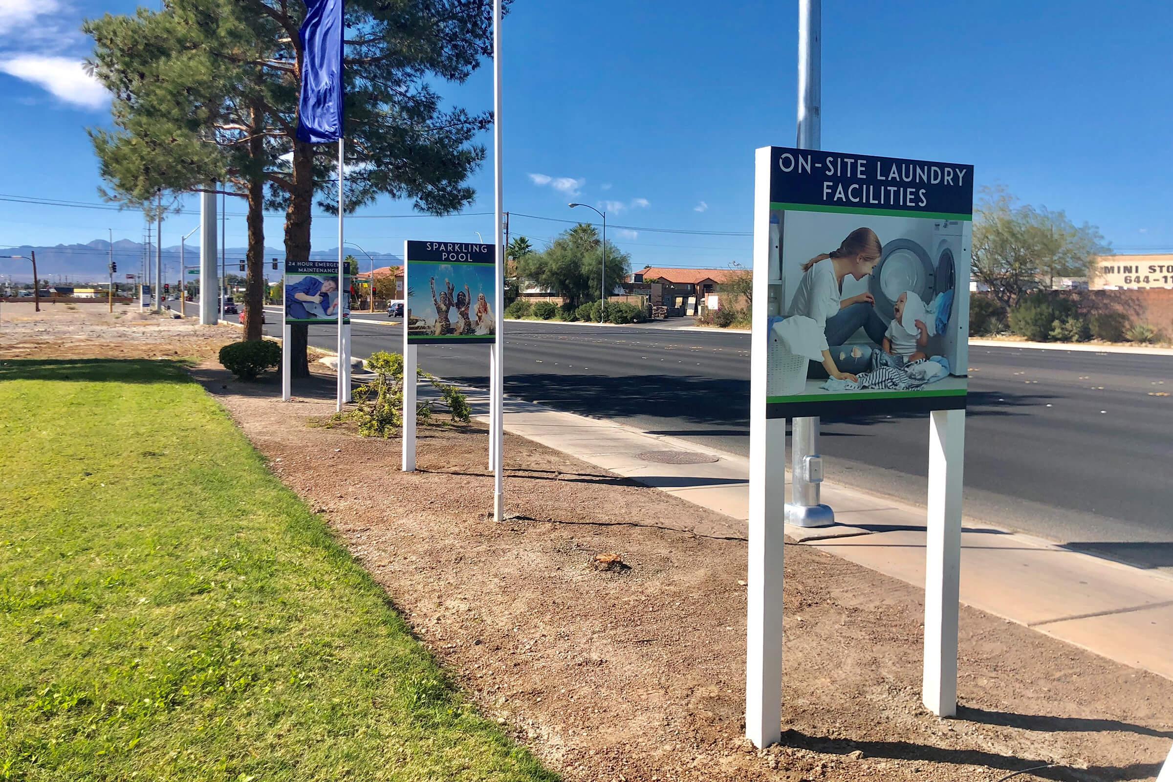 MARKETING SIGNS FOR LAS BRISAS DE CHEYENNE IN LAS VEGAS, NEVADA
