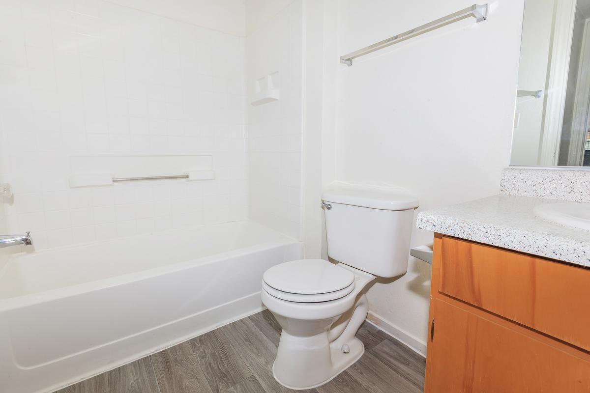 CONTEMPORARY BATHROOMS AT LAS BRISAS DE CHEYENNE IN LAS VEGAS, NEVADA
