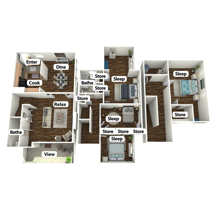 Floor plan image of Carolyn Mary Townhome