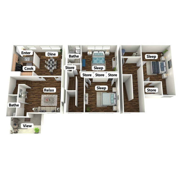 Floor plan image of Henry Townhome