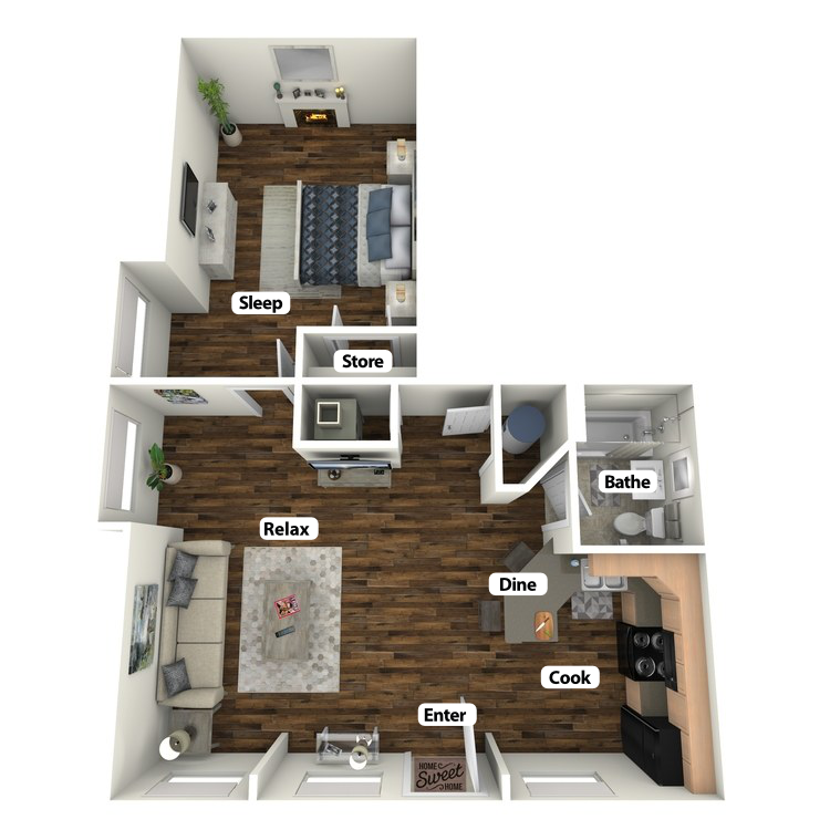 Floor plan image of Marrett Suite