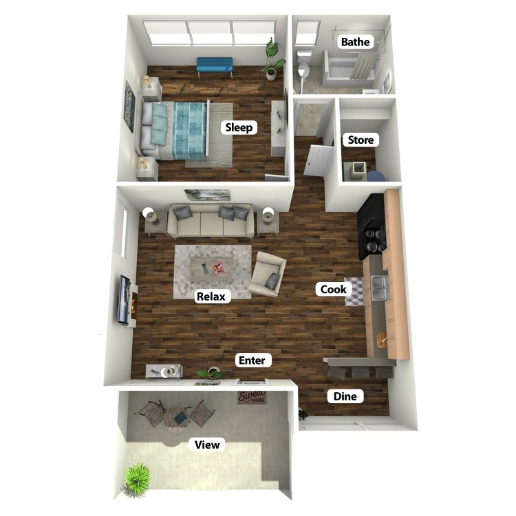 Floor plan image of Pizzi Suite
