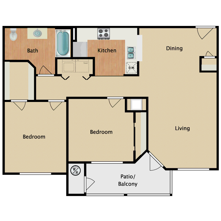 Floor plan image of B1-HC