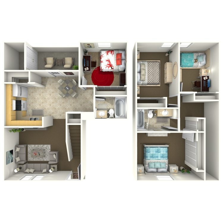 Floor plan image of 4 Bed 2 Bath