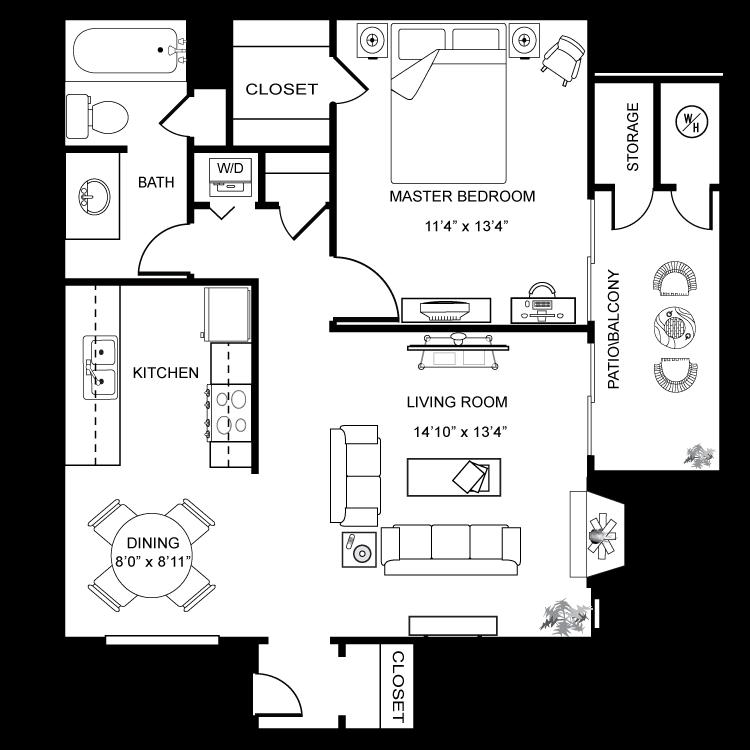 Floor plan image of Newport Furnished