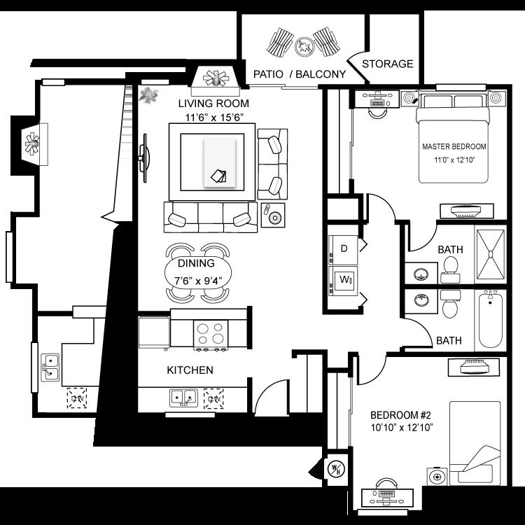 Floor plan image of Northbay Furnished