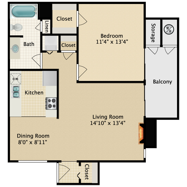 Floor plan image of Newport Furnished