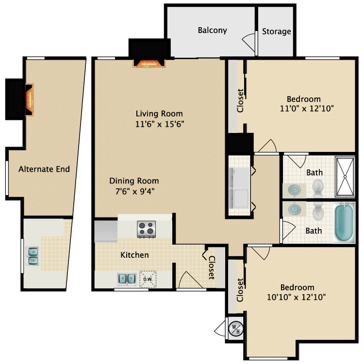 Floor plan image of Northbay Furnished