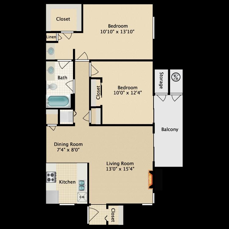 Floor plan image of Tradewind Furnished