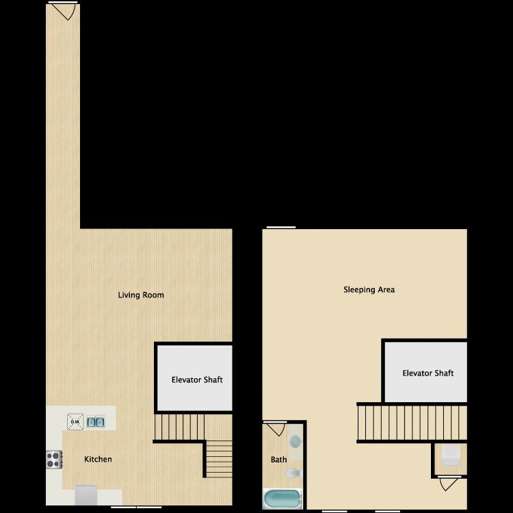 Floor plan image of Loft 10