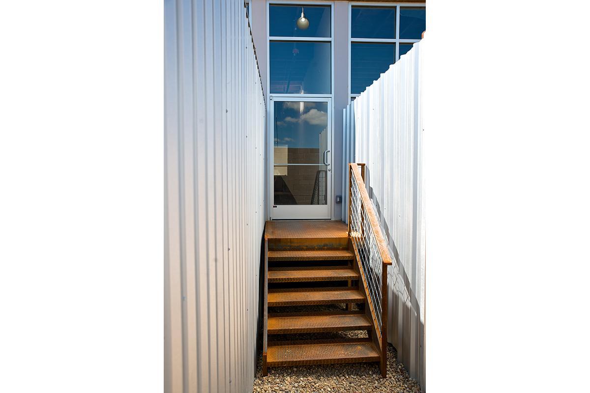 a wooden door