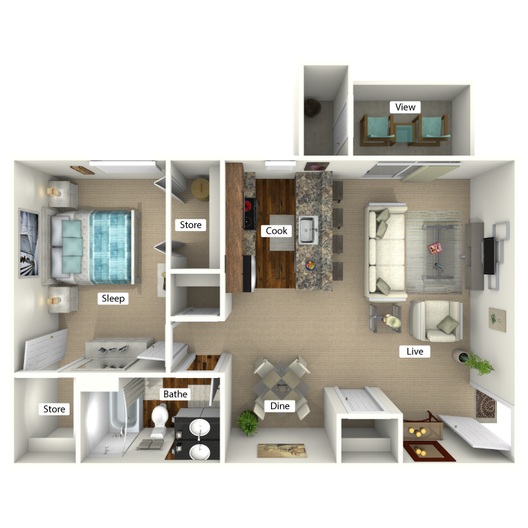 Floor plan image of The Mimosa