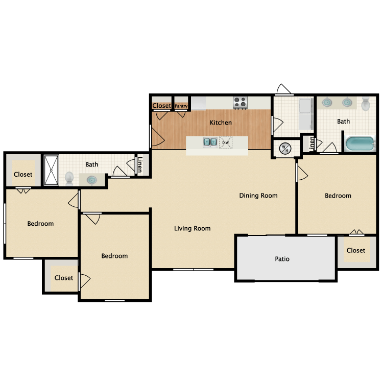 Floor plan image of Prairie